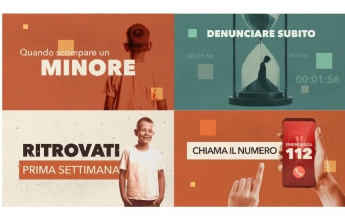 Giornata internazionale minori scomparsi, ecco la campagna di comunicazione